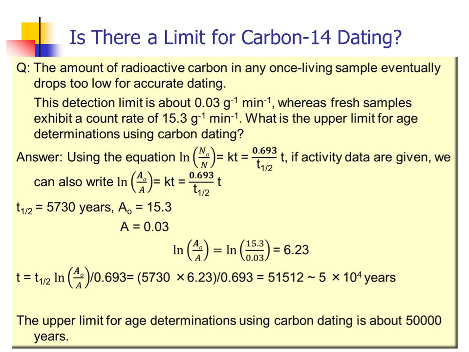 radiocarbon dating limits