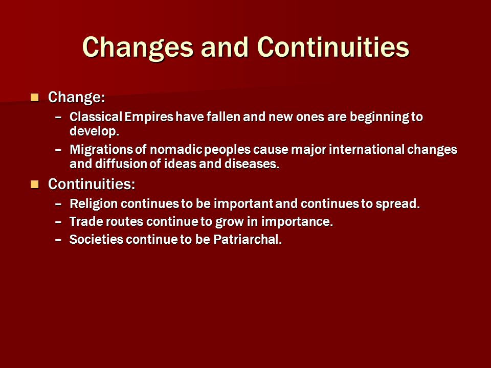 changes and continuities in japan Introduction: change and continuity in east asia uploaded by timothy lim today, for example, japan is a stable, prosperous and peaceful democracy but this has not always been the case indeed.