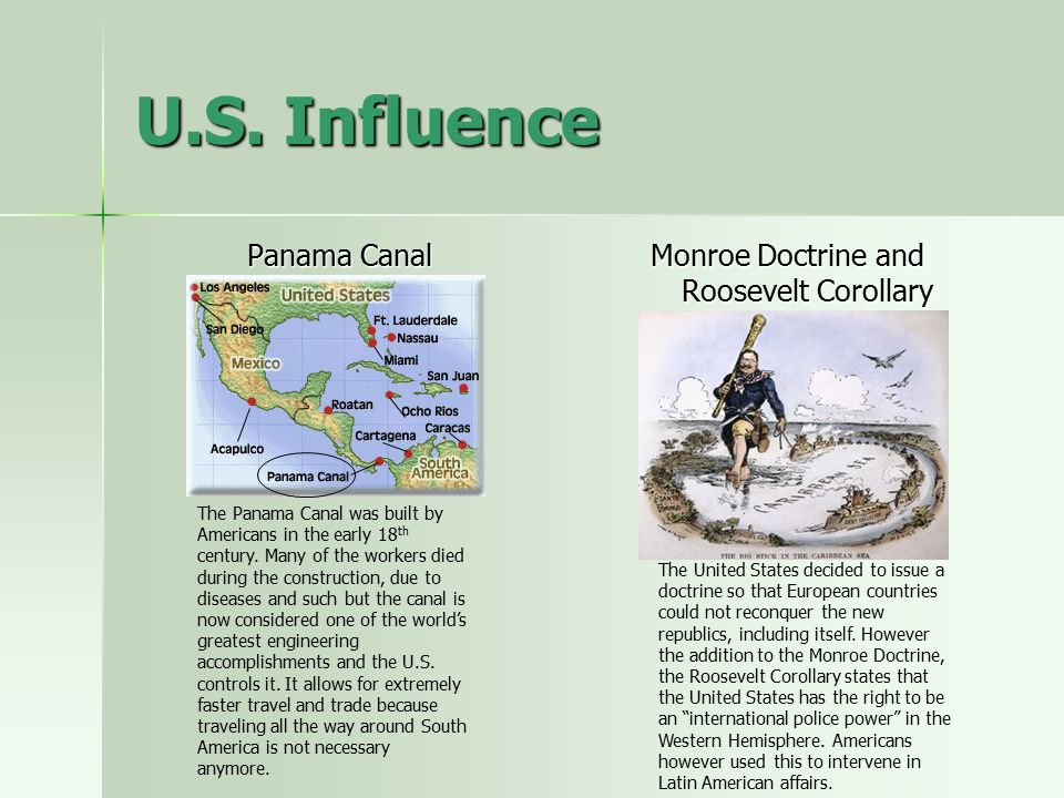 the influence of the monroe doctrine to the expansion of american trade