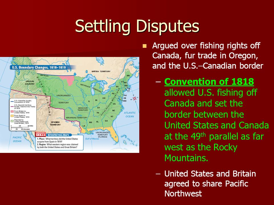 Chapter A National Identity Ppt Download - Us 1818 border map