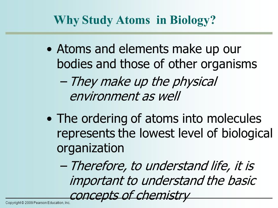 why chemistry is important in biology I guess i see chemistry as being a crucial part of medicine in two ways chemistry is what i call the 'how' and 'why' part of science biology can tell us a lot about what is involved in biological systems, but when we look at the human body in terms of wanting to cure disease, we need to understand.
