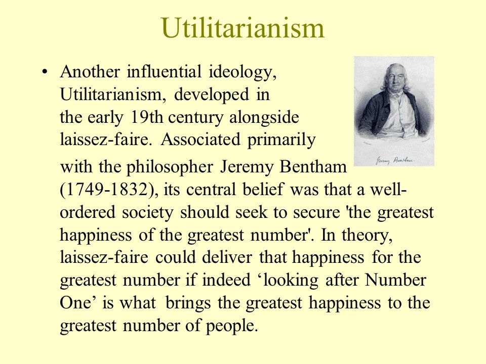 utilitarianism and greatest number In the utilitarian approach, decisions are chose based on the greatest amount of benefit obtained for the greatest number of individuals this is also known as the consequentialist approach since the outcomes determine the morality of the intervention.