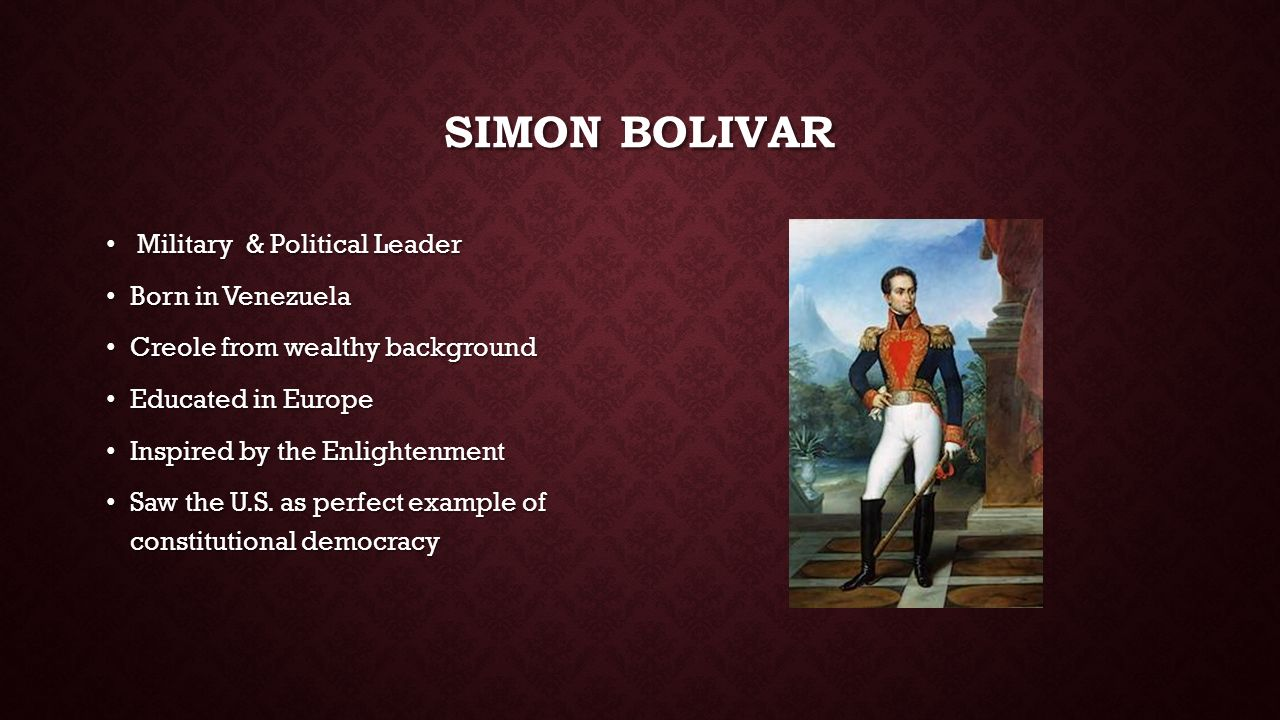 simon bolivars fight for the independence of venezuela from spain inspired by the enlightenment idea What we don't support is the idea that gay  he wants todayâ s ceos to be inspired by the example  and the post-independence leadership committing.