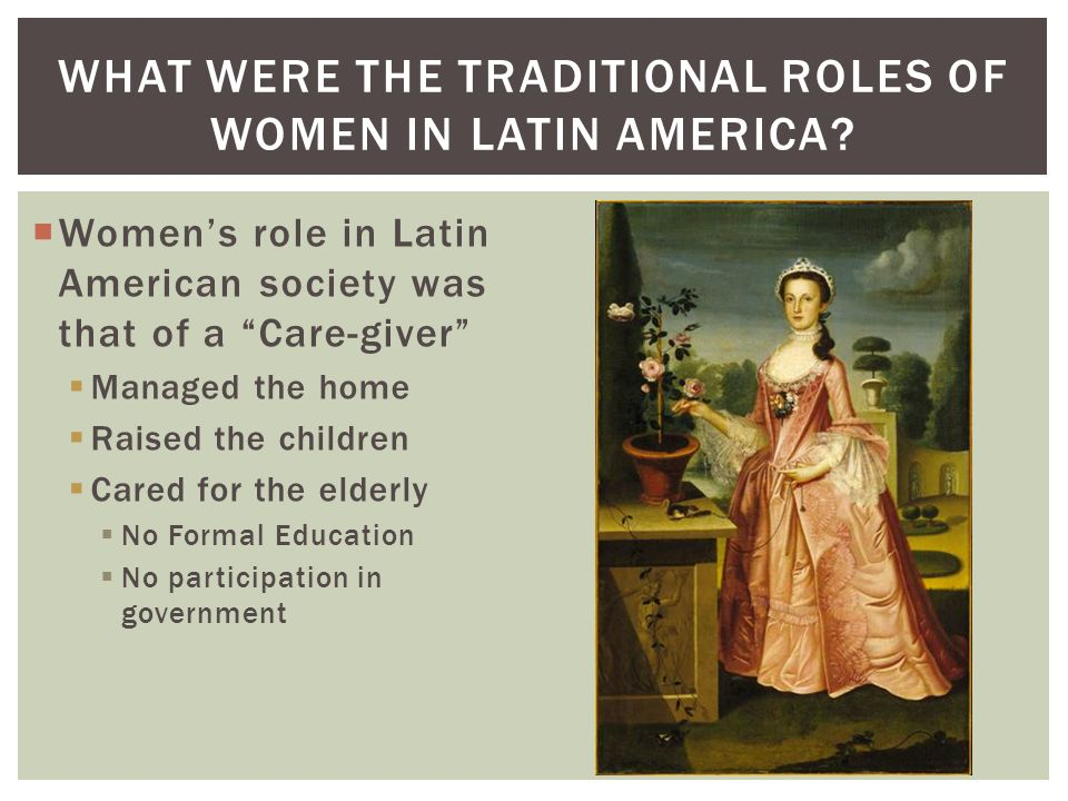 womens predetermined roles in early society of america An overview of women's roles in chinese society over time by patricia ebrey  in china from very early times, men have been seen as the core of the family.