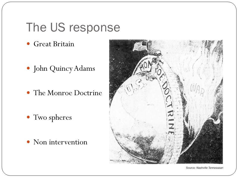 john quincy adams and the monroe doctrine history essay John quincy adams was president and secretary of state  he was the architect  of the monroe doctrine, the cornerstone of american foreign  led to the most  successful post-presidency in the history of the united states  this site brings  together serious debate, commentary, essays, book reviews,.