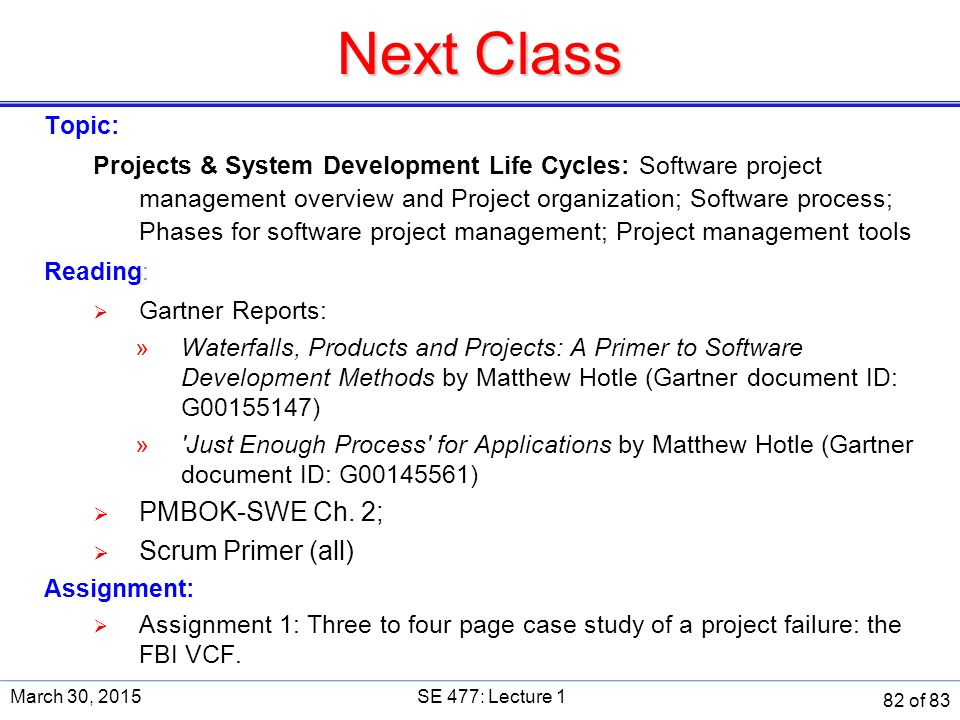 case study of project failure