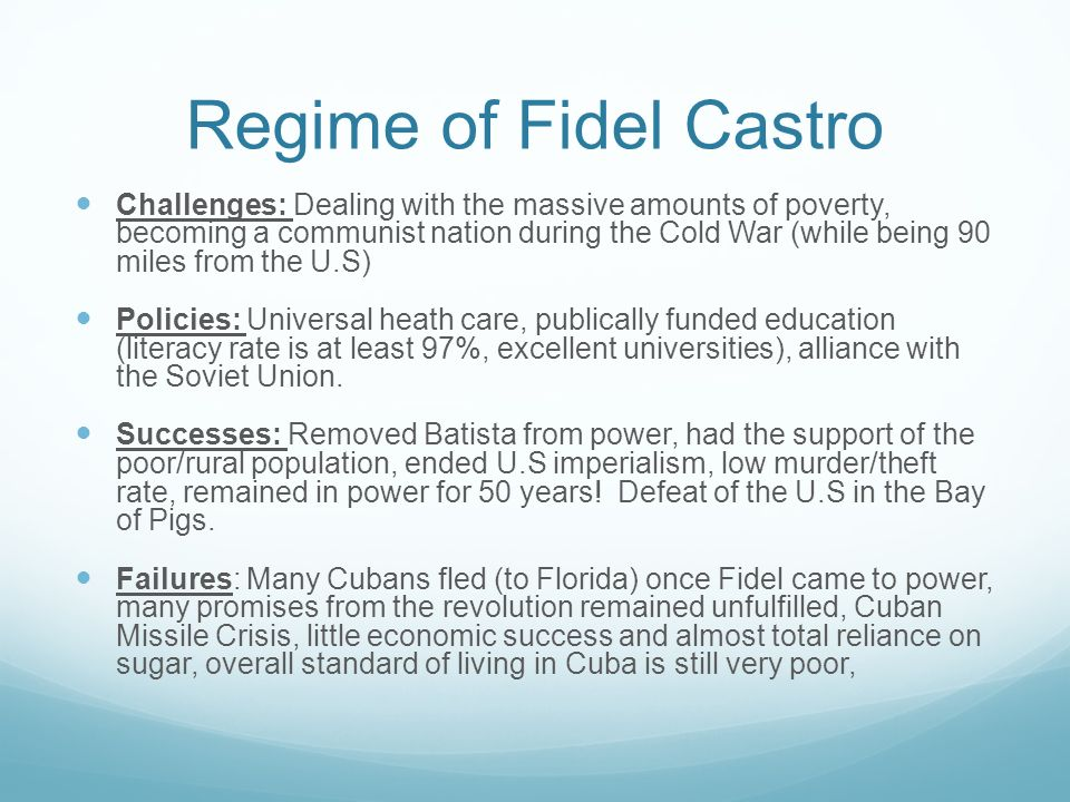 """importance of fidel castros economic policies In the wake of fidel castro's death at age 90 on november 25, 2016, however,   officially assumed the role of president in february 2008—cuba has slowly  """" raúl's legacy in economic policy lies in breaking once forbidding."""