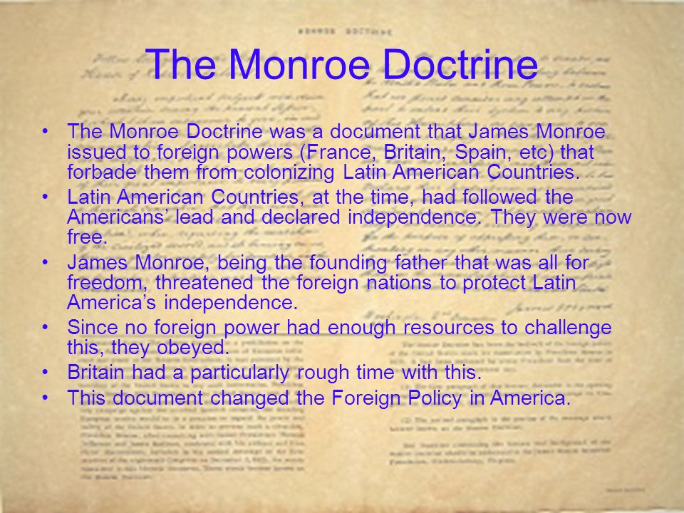 an analysis of the monroe doctrine in the united states Taylor dipoto  16 december 2016 american isolationism and the monroe doctrine in the nineteenth century for a great deal of american history, the united states remained—or attempted to remain—independent from the political affairs of other nations.