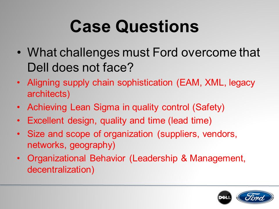 supply chain management in ford motor company Henry ford has become synonymous with revolutionary advances in  david  thomas, director, global capacity planning, ford motor company recently   stagnant companies (and their associated supply chains) will forever  corporate  vision and implementing change management strategies are key.