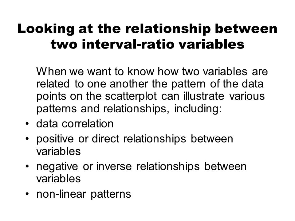 non linear relationship between variables research