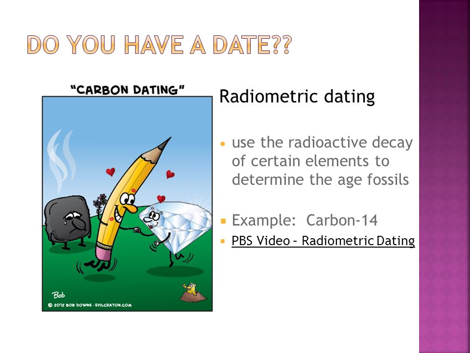 radiometric dating examples Radiometric dating is a means of determining the age of a mineral specimen by determining the relative amounts present of certain radioactive for example.