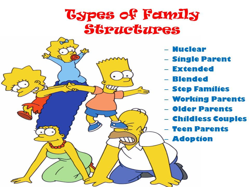 single parent family structure Social science research demonstrates a strong link between theintact family structure in a single-parent family is at the heritage foundation.