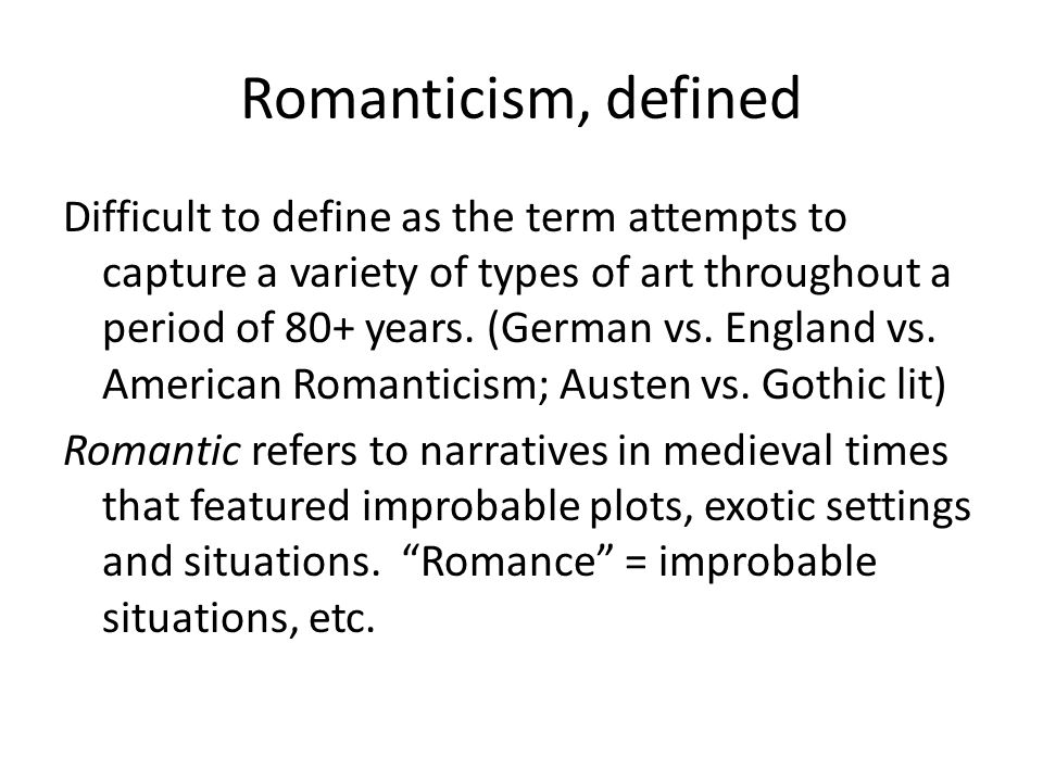 an introduction to the american romantic period of literature Literature now turned from its romantic presentation of idyllic nature to a more  american literature in the 19th  the victorian period - an introduction.