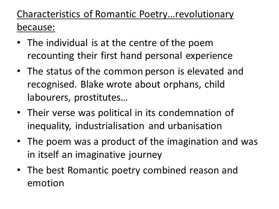 characteristics of romantic poetry pdf