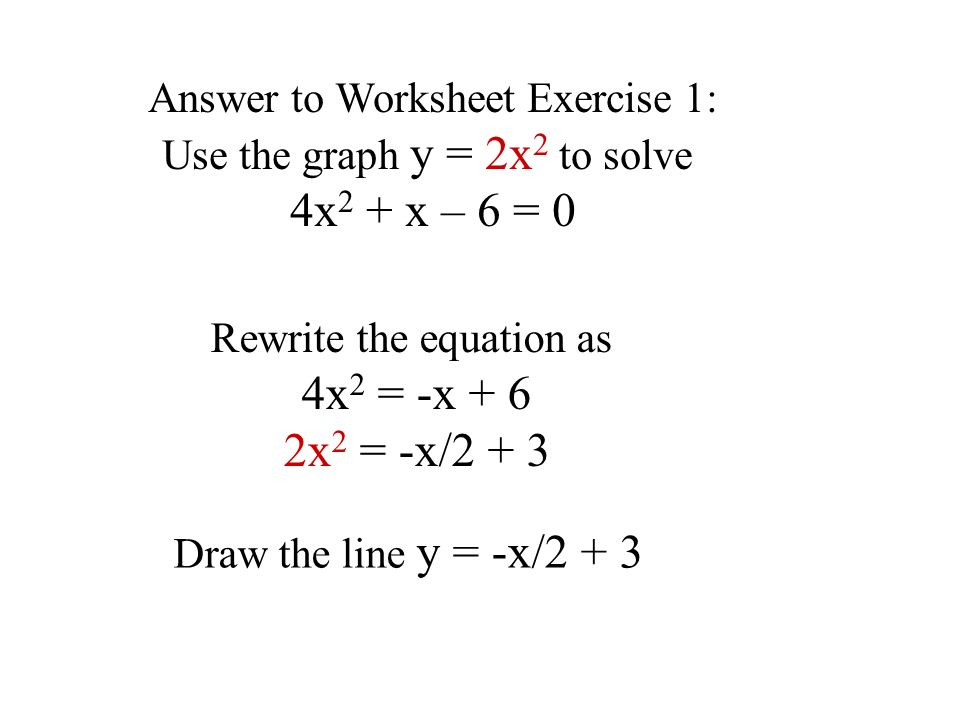 By Drawing The Line Y Solve The Equations : Approximate solution of equations ppt video online download