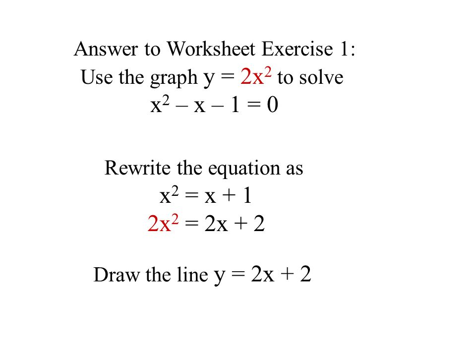 By Drawing The Line Y On The Grid Solve The Equations : Approximate solution of equations ppt video online download