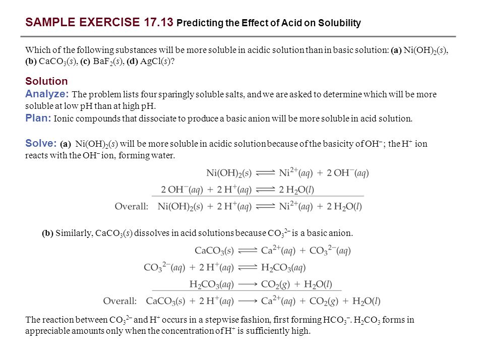 SAMPLE EXERCISE 17.1 Calculating the pH When a Common Ion Is ...