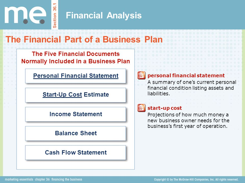 Chapter 36 financing the business Section 36.1 Financial Analysis ...