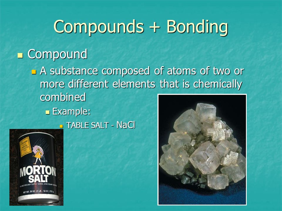 Compounds + Bonding Compound