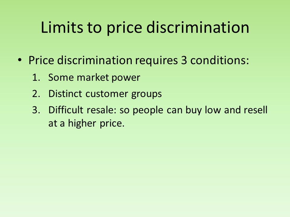 Limits to price discrimination