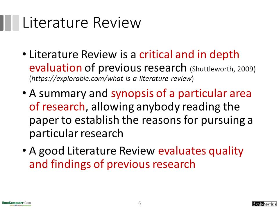 literature review on research methodology There are many types of literature review and the following types of literature review are the most popular in business studies.
