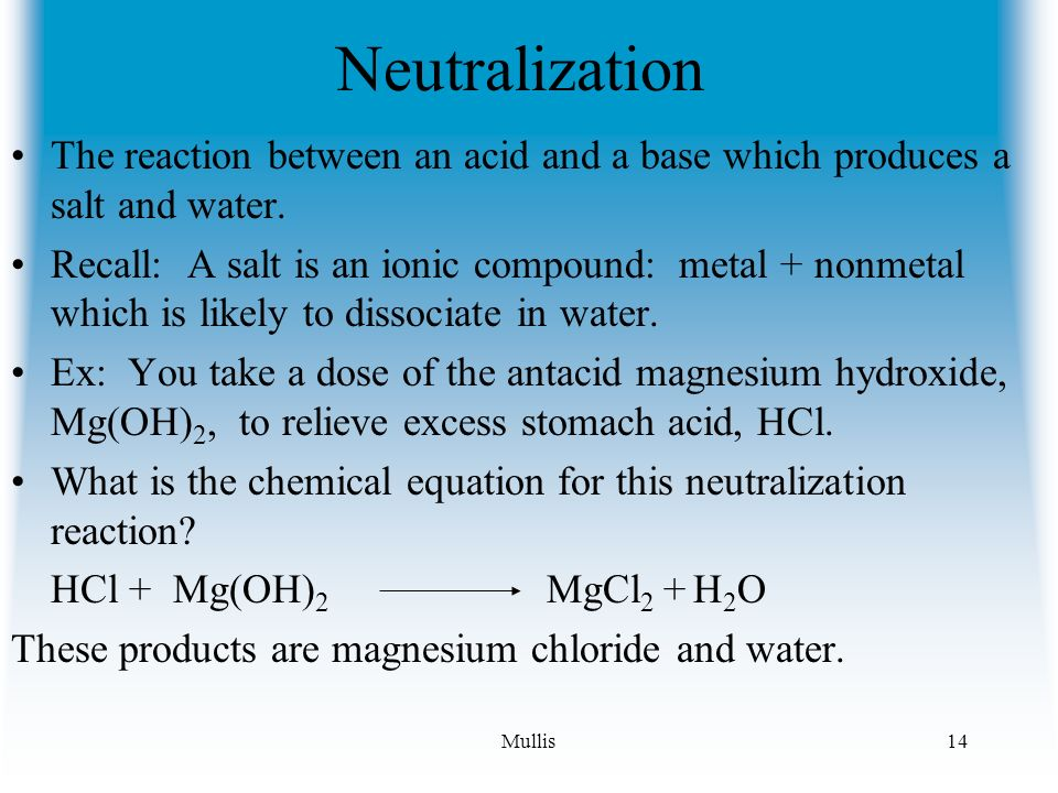 reaction between magnesium and hydrochloric acid