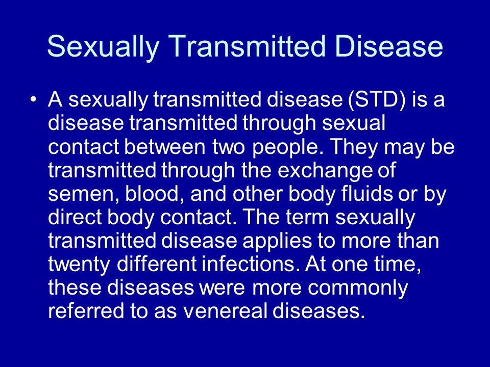 Live About sexually transmitted disease