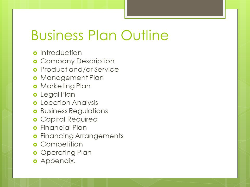 introduction and business history and description To write a complete description of your business, follow these simple suggestions legal entity and ownership describe the ownership and legal establishment of the company this means to specify whether your company is a corporation, partnership, sole proprietorship, or some other kind of legal entity, such as a limited liability partnership.