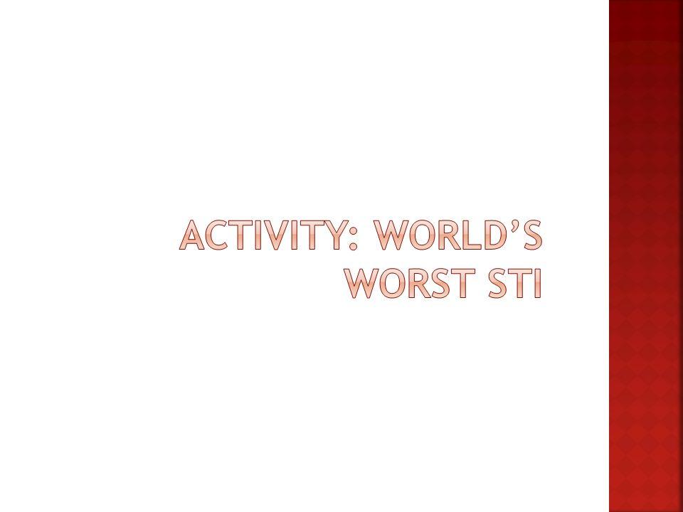 ACTIVITY: World's Worst STI