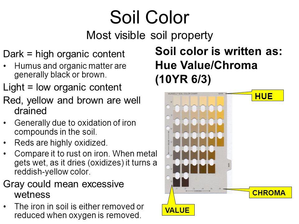 Envirothon soils dennis brezina ppt video online download for Soil yellow color