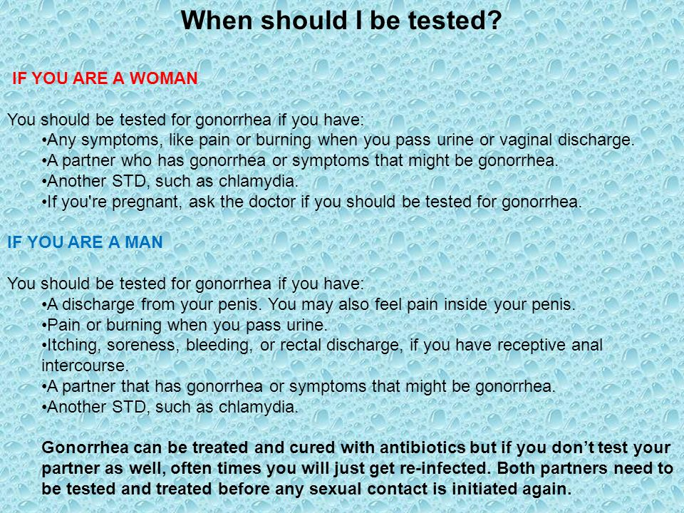 how to tell your partner you have gonorrhea