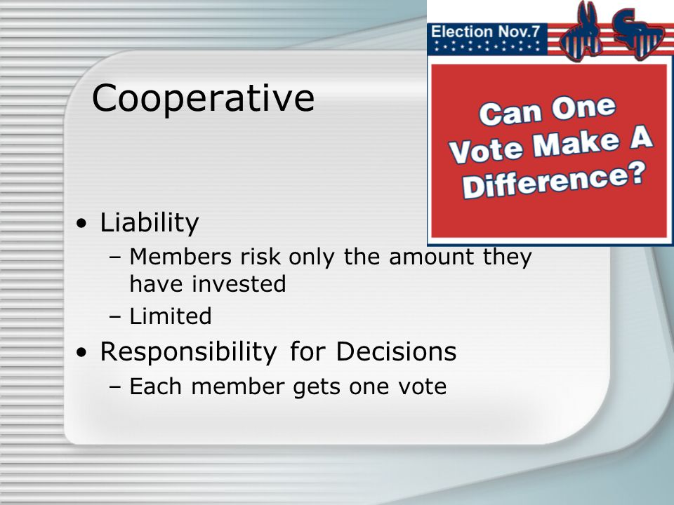 Cooperative Liability Responsibility for Decisions