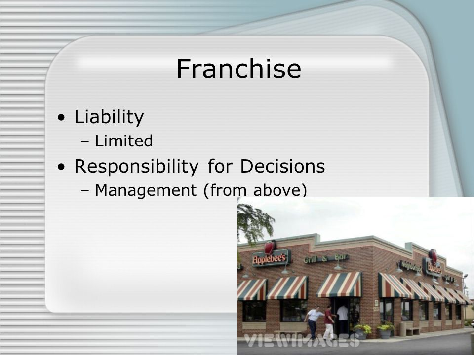 Franchise Liability Responsibility for Decisions Limited