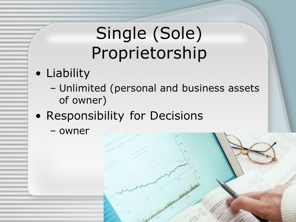 Single (Sole) Proprietorship