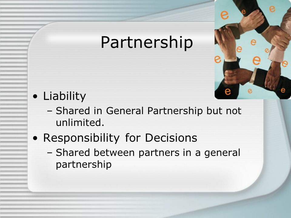 Partnership Liability Responsibility for Decisions