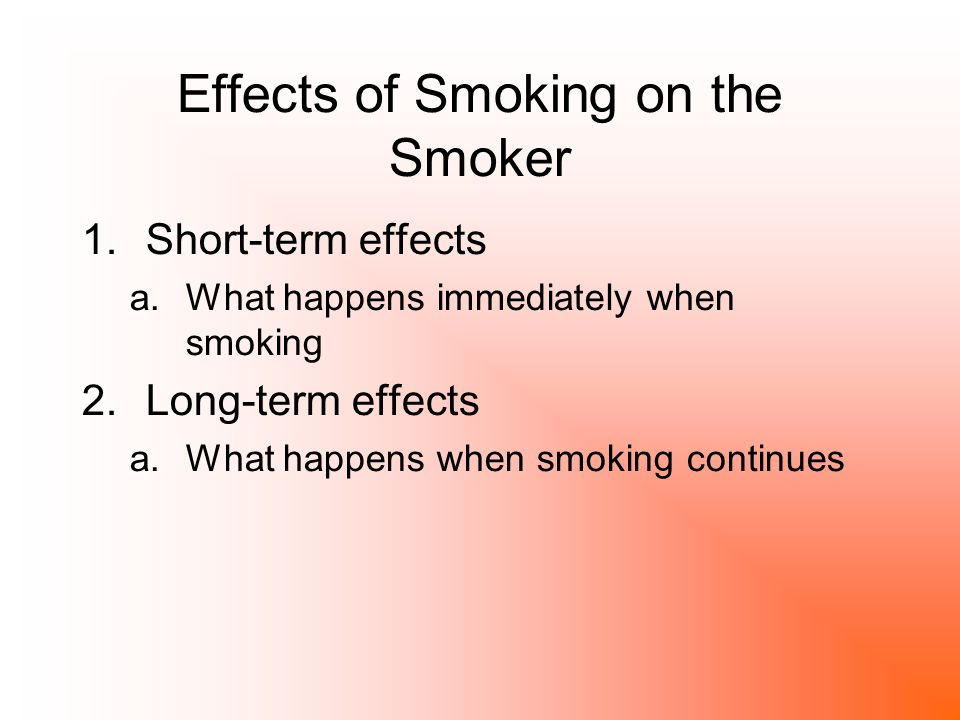 short term effects of smoking cigarettes What are the short-term effects of smoking bad breath bad taste in mouth what are the short-term effects of chewing spit tobacco bad breath bad taste in mouth.