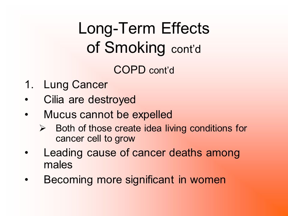 Long term nicotine effects