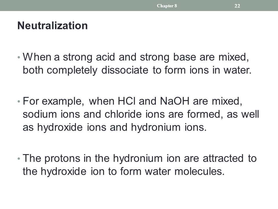 Chapter 8 Chapter 8 Acids, Bases, and Buffers in the Body. - ppt ...