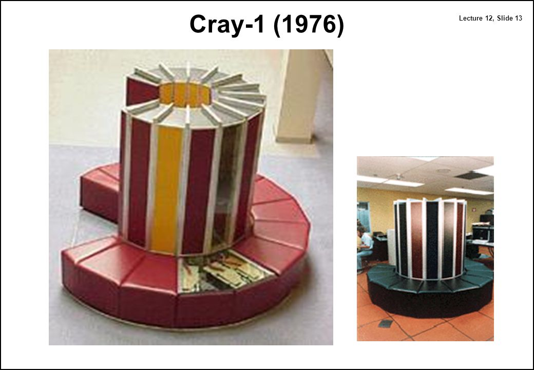 Computer architecture vector computers ppt download for Cray 1 architecture