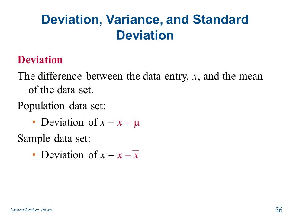 how to find sample mean and standard deviation