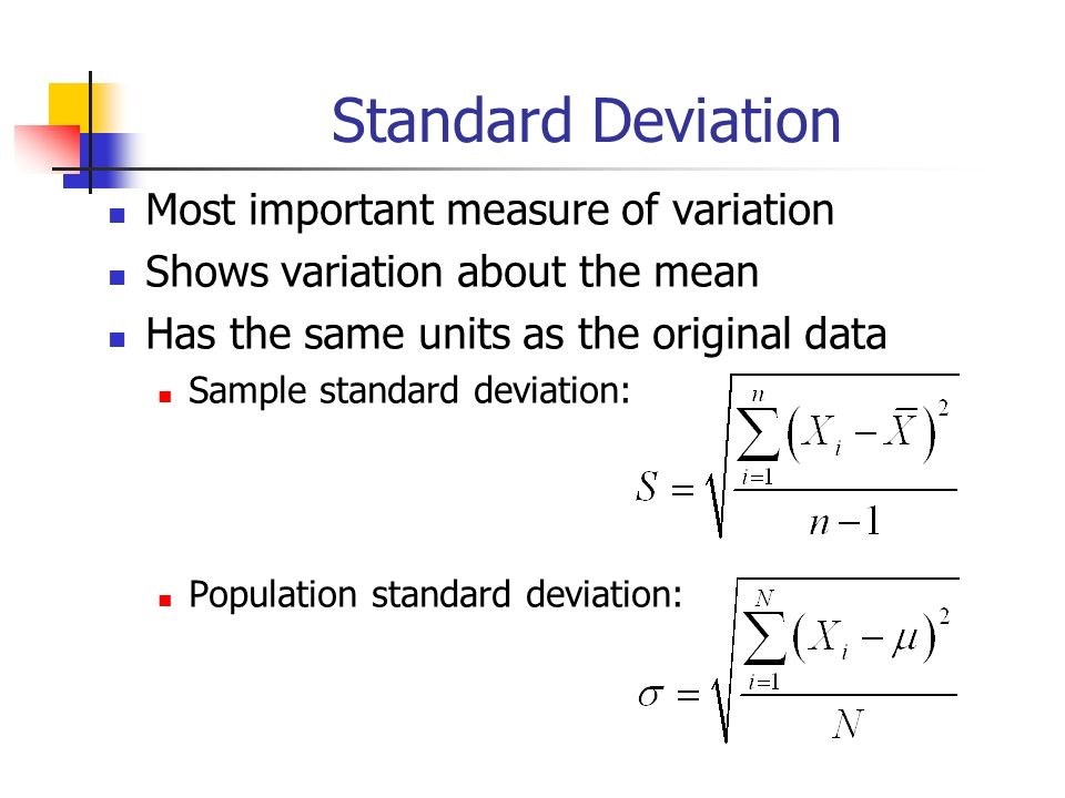 importance of standard deviation and mean relationship