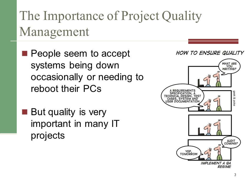 the importance of project management for the The importance of project scope the project scope is the boundary within which you will deliver your project you will have difficulty delivering a successful project without clearly defined project scope.
