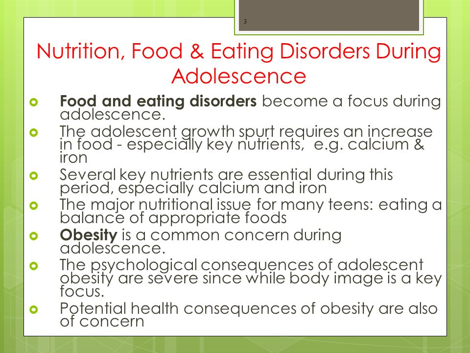 Teen, Children and Adolescent Eating Disorders