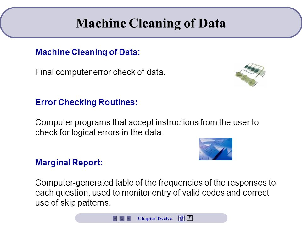 Machine Cleaning of Data