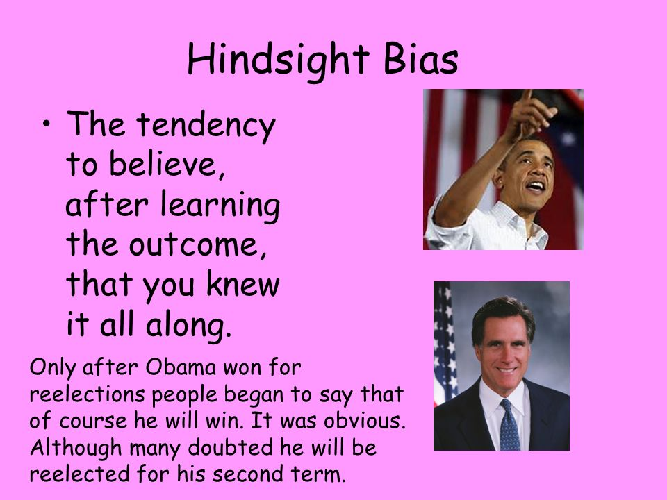 Hindsight Bias Term Paper Service