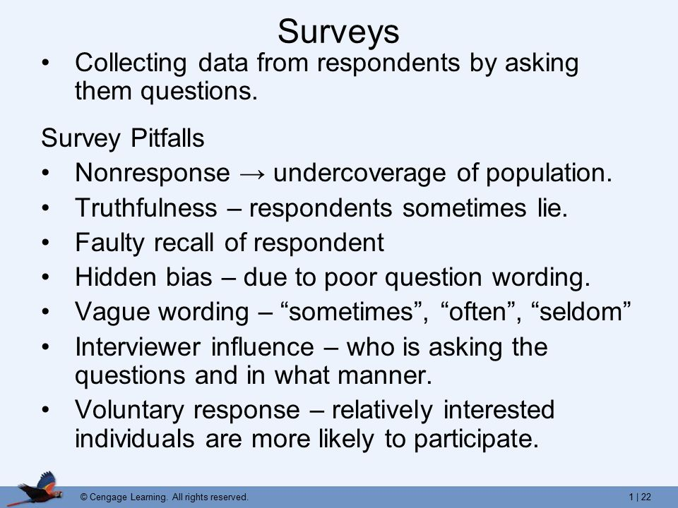 survey question and respondents The questionnaire designer needs to ensure that respondents fully understand  the questions and are not likely to refuse to answer, lie to the interviewer or try to .