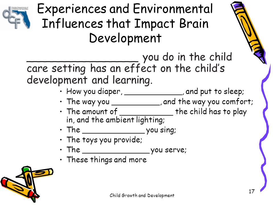 impact environment childhood development See more resources on housing and living conditions: impact 2010 access to stable, adequate shelter plays a major role in the health and wellbeing of families, and in particular children, by providing a safe environment housing costs housing tenure homelessness child development.