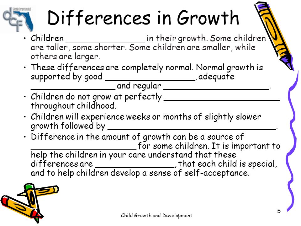 difference in growth and development Growth and development in health are based on the biological events that cause a person to grow physically and morally at different stages of life, you can find different issues that are usually emphasized by individual behaviour and environmental factors.