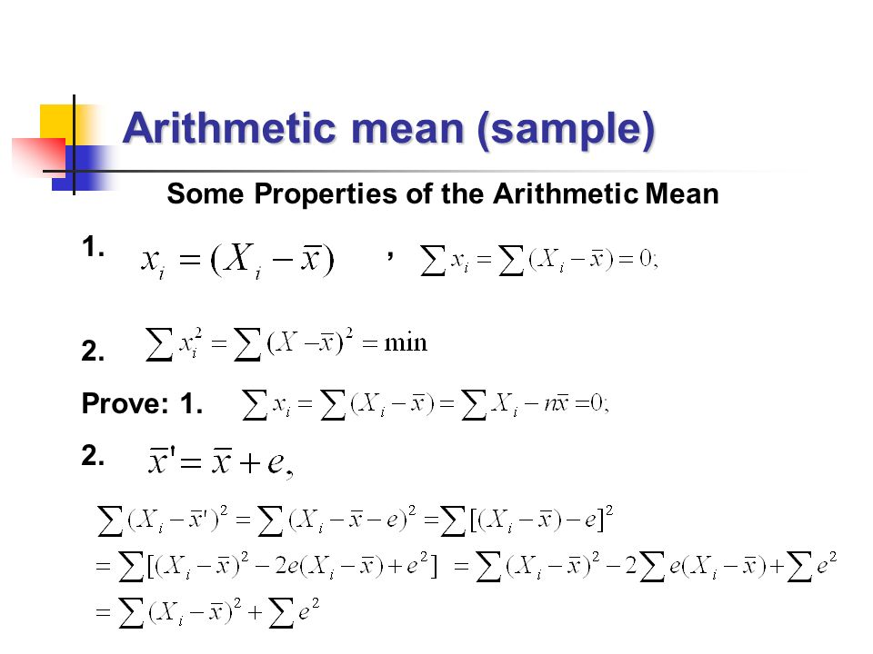 arithmetic mean and correct answer Which of the arithmetic mean, median, and mode are resistant measures of central tendency a) the arithmetic mean and median only in perfectly symmetrical distributions, which of the following is not a correct statement a.