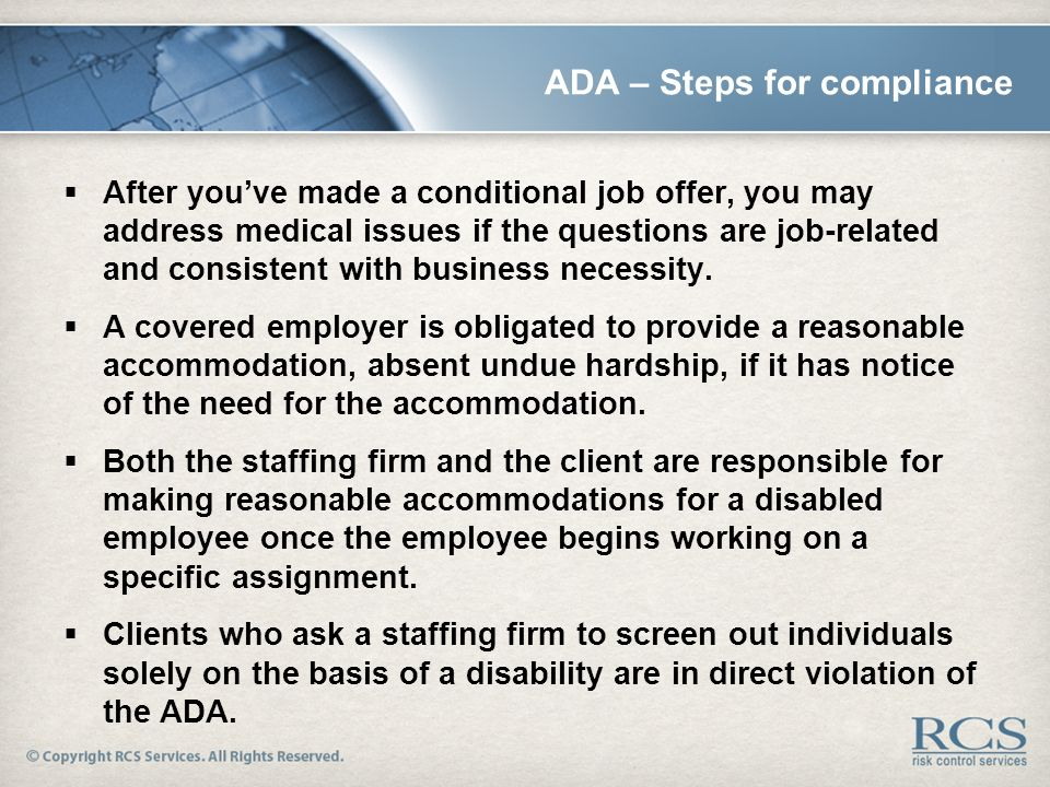7 ada steps for compliance after youve made a conditional job offer - After Job Offer Questions To Ask